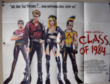 Class of 1984 (1982) Film Poster - UK Quad